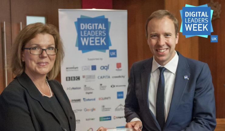 Sherry Coutu and Matt Hancock at the Digital Leaders Week Launch 2017